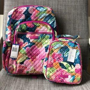NWT Vera Bradley 2pc Backpack & Lunch Set